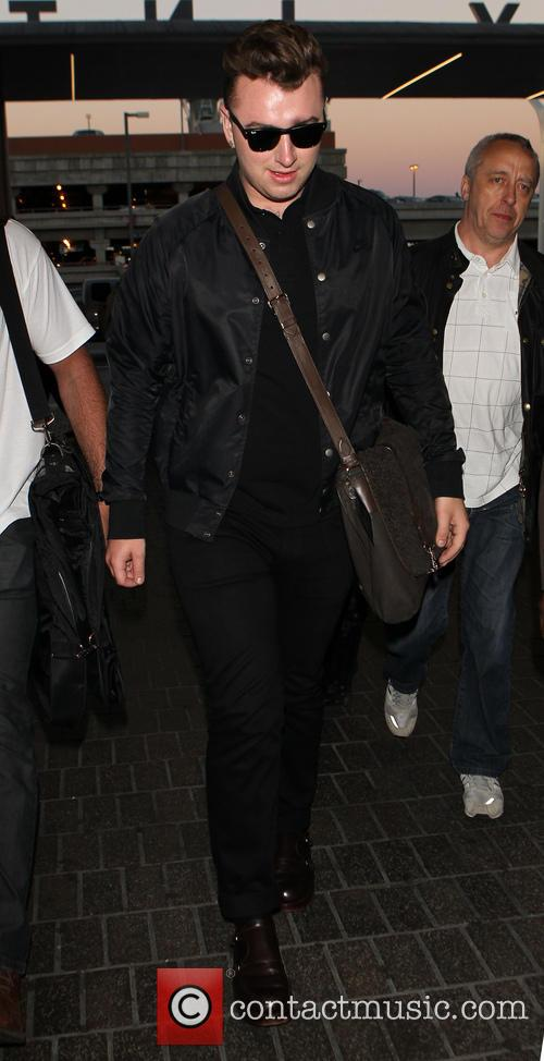 Sam Smith at Los Angeles International Airport