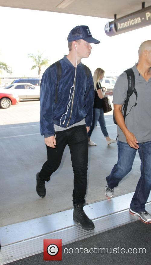 Will Poulter departs from Los Angeles International Airport