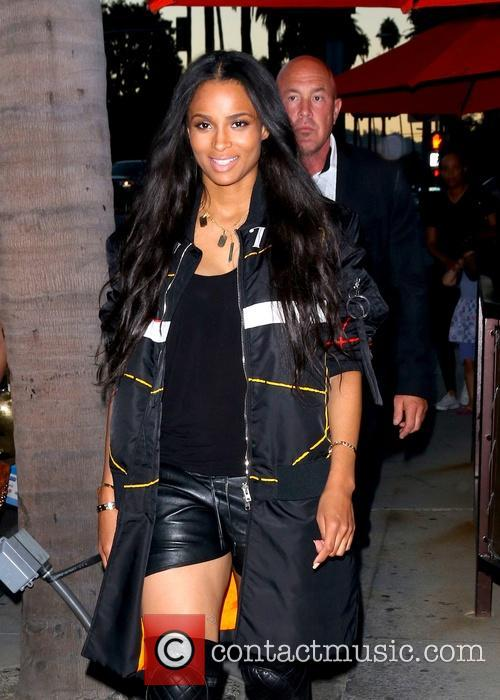 Ciara leaves Crustacean Restaurant