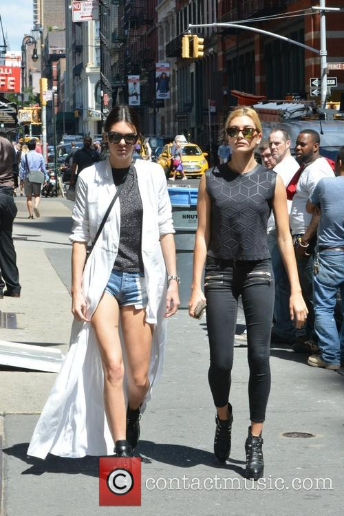 Kendall Jenner and Hailey Baldwin out in Soho