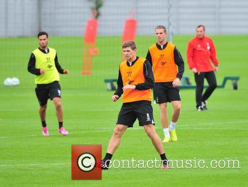 Liverpool F.C players training at Melwood