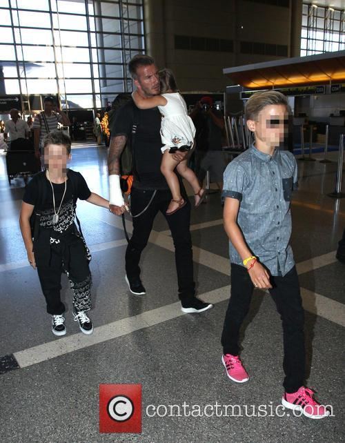 David Beckham, Harper Beckham, Cruz Beckham and Romeo Beckham 2