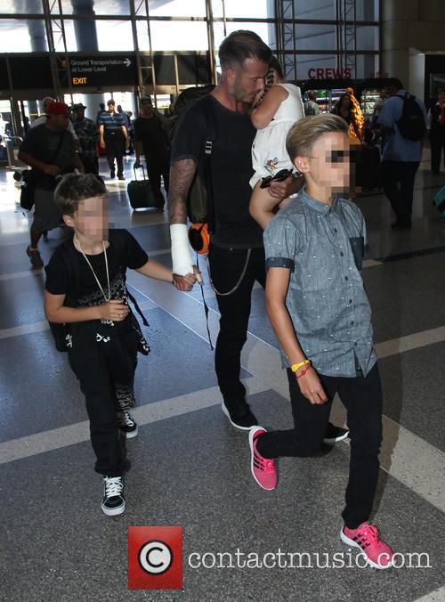 David Beckham, Harper Beckham, Cruz Beckham and Romeo Beckham 3