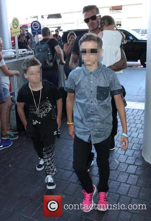 David Beckham, Harper Beckham, Cruz Beckham and Romeo Beckham 4