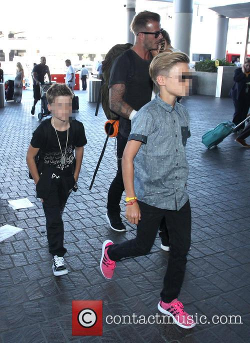 David Beckham, Harper Beckham, Cruz Beckham and Romeo Beckham 5