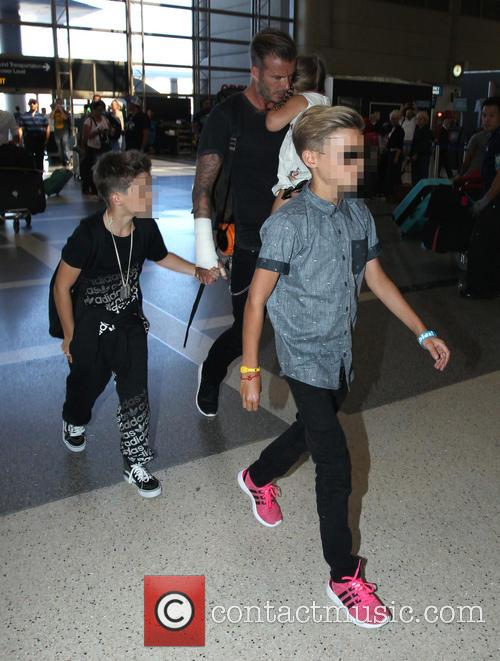 David Beckham, Harper Beckham, Cruz Beckham and Romeo Beckham 6