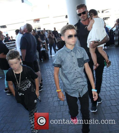 David Beckham, Harper Beckham, Cruz Beckham and Romeo Beckham 9