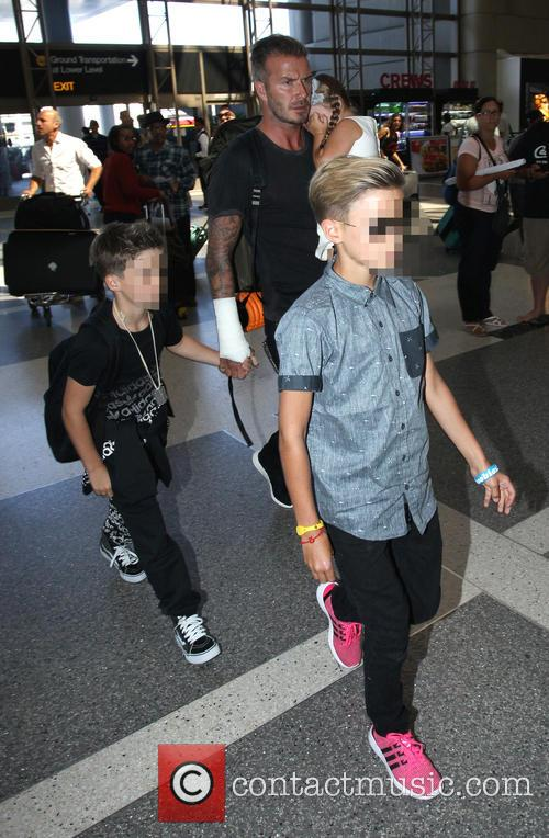 David Beckham, Harper Beckham, Cruz Beckham and Romeo Beckham 10