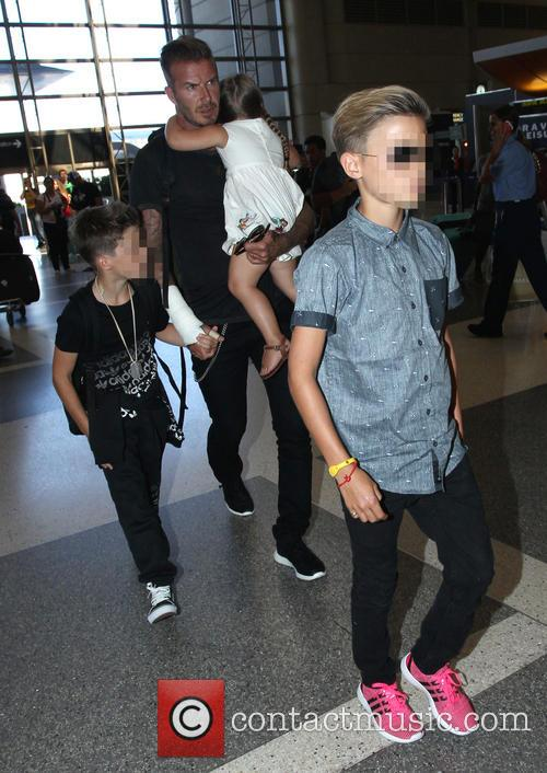 David Beckham, Harper Beckham, Cruz Beckham and Romeo Beckham 11