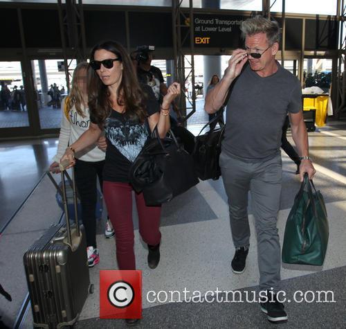 Gordon Ramsay arrives at Los Angeles International (LAX)...