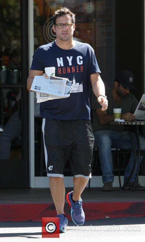 Josh Hopkins visits a Starbucks