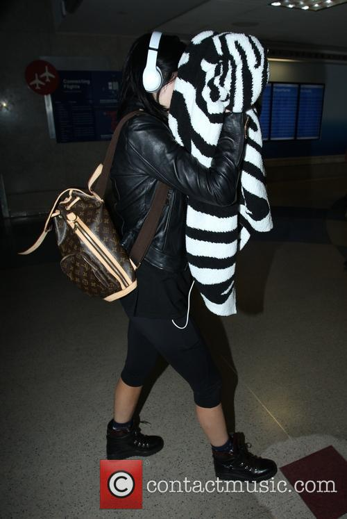 Kylie Jenner arrives at Los Angeles International (LAX) airport