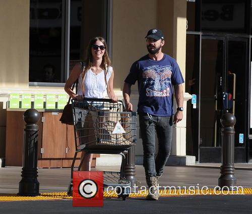 Shia LaBeouf and girlfriend Mia Goth leave Gelson's...