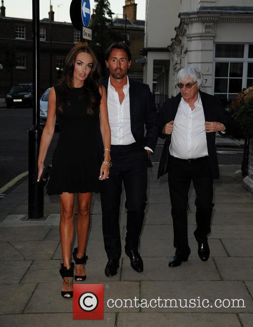 Tamara Ecclestone arrives at restaurant