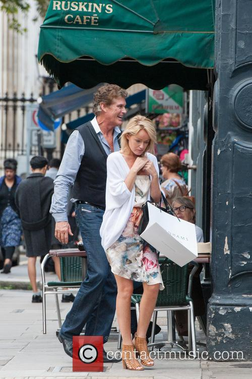 David Hasselhoff and his wife Hayley spotted in...