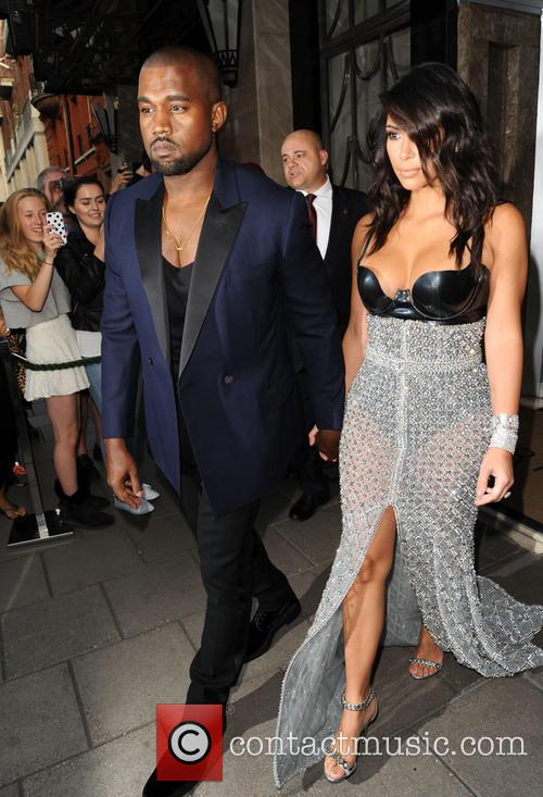 Kanye West and Kim Kardashian leave Claridges