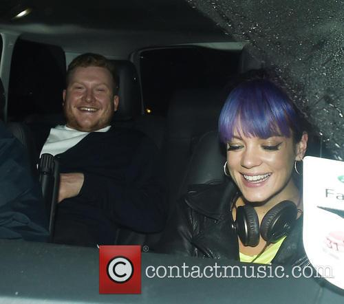 Lily Allen leaving Chiltern Firehouse with a male friend