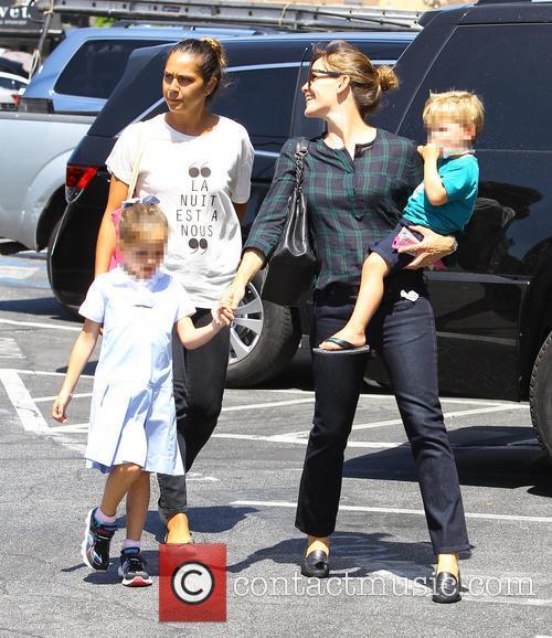 Jennifer Garner, Samuel Garner Affleck and Seraphina Rose Elizabeth Affleck 2