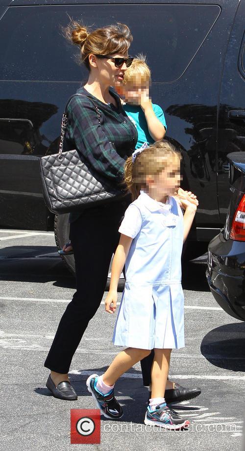 Jennifer Garner, Samuel Garner Affleck and Seraphina Rose Elizabeth Affleck 3