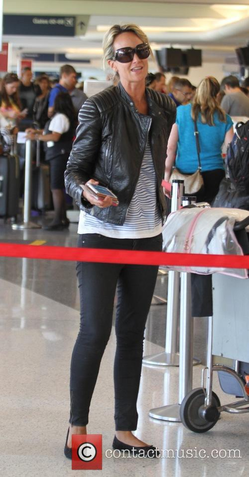 Lady Victoria Hervey at Los Angeles International Airport...