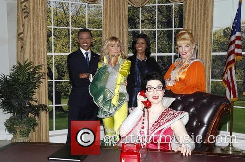 Broadway's 'Mamma Mia' cast unveil ABBA wax figures...