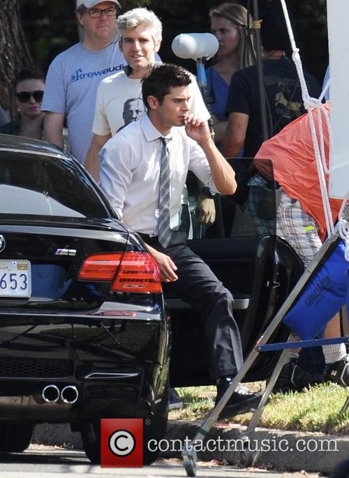 Zac Efron filming 'We Are Your Friends'