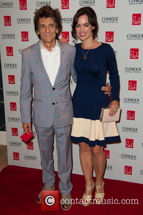 Ronnie Wood and Sally Hawkins