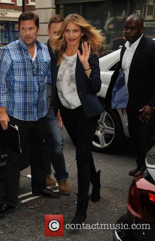 Cameron Diaz arrives at Radio 2