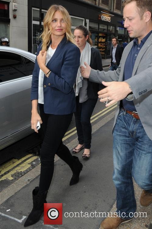 Cameron Diaz leaving the BBC