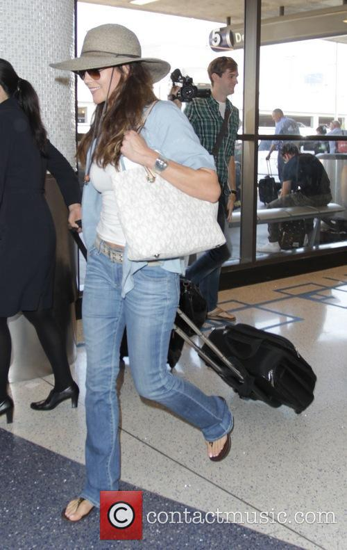 Diane Lane at Los Angeles International Airport (LAX)