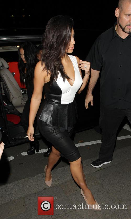 Kim Kardashian leaving Claridge's hotel