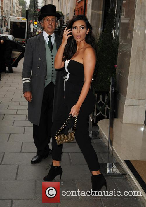 Kim Kardashian leaving Claridges