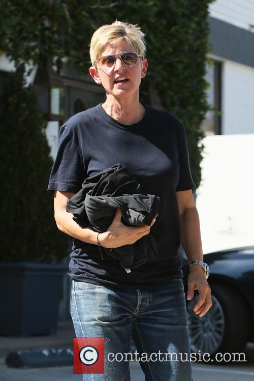 Ellen DeGeneres at an office building in West...