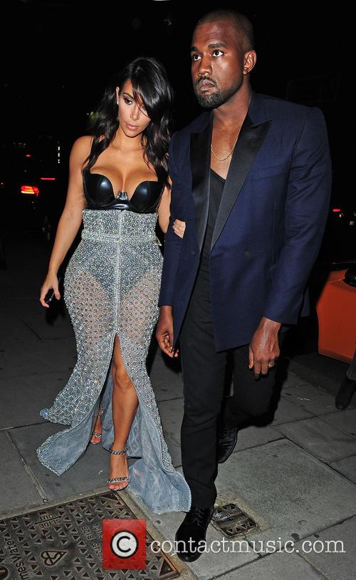 Kim Kardashian and Kanye West 2