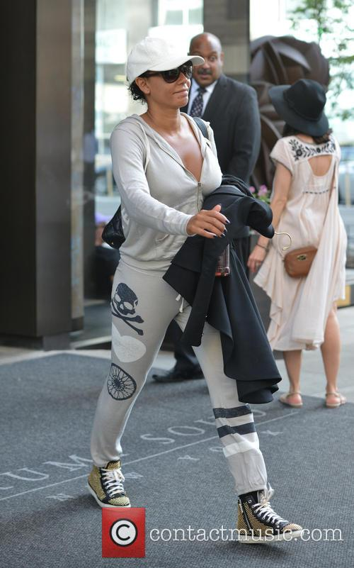 Mel B leaving a hotel in New York...
