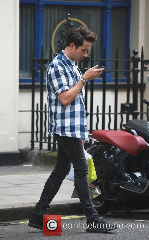 Nick Grimshaw out and about in London