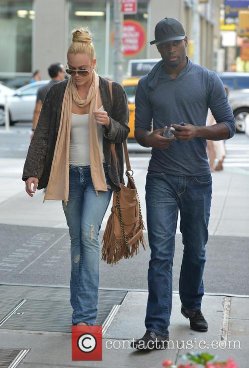 Peta Murgatroyd out with a male friend