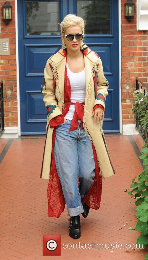 Rita Ora seen leaving her london home