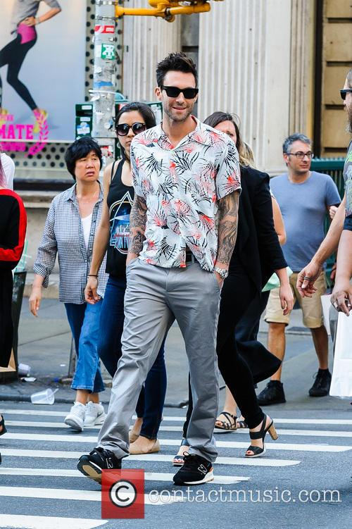 Adam Levine out and about in NYC