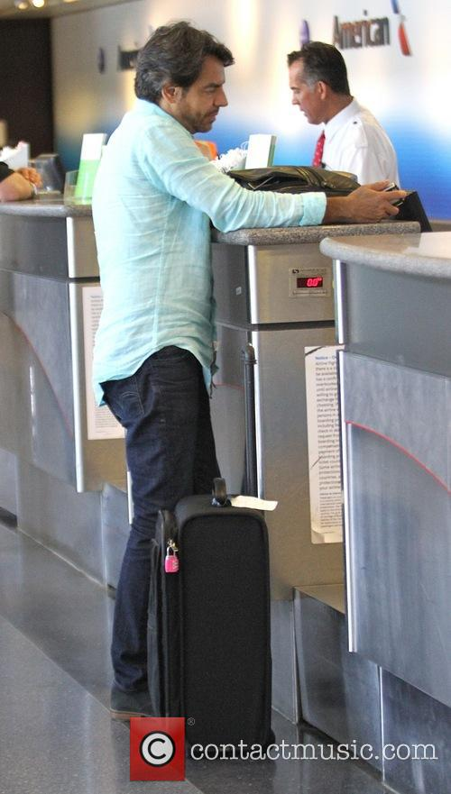 Eugenio Derbez at Los Angeles International (LAX) airport