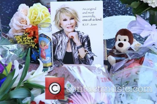 Tributes on Joan Rivers' star on the Walk of Fame