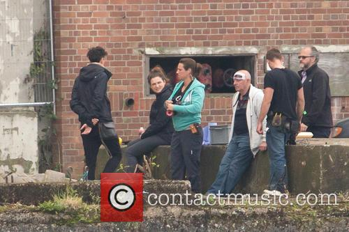Filming for upcoming movie 'Criminal' in East London