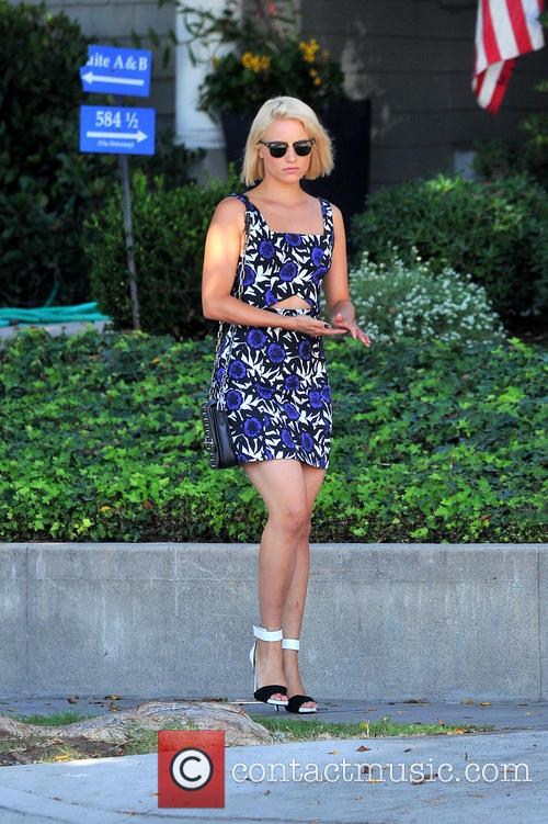 Dianna Agron out in hollywood