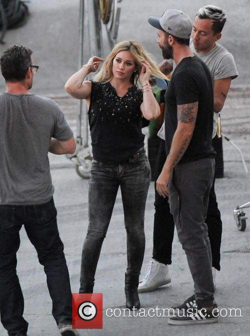 """Hilary Duff dancing away for """"All About You"""" music video"""
