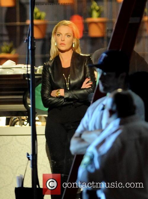 Katherine Heigl filming