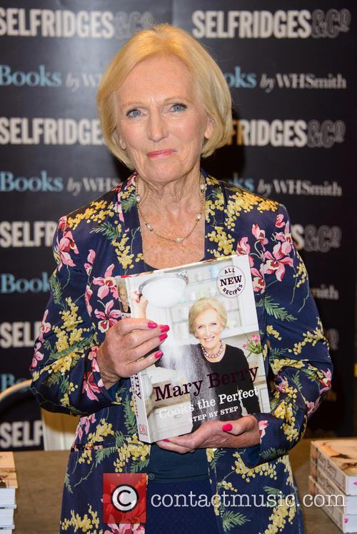 Mary Berry signs copies of her new book