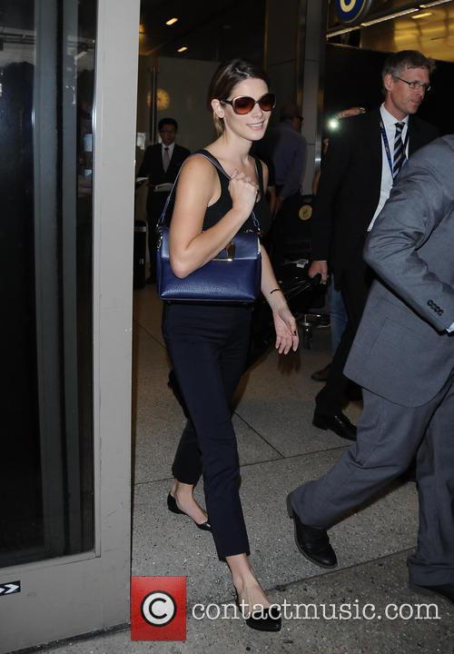 Ashley Greene arrives at Los Angeles International Airport...