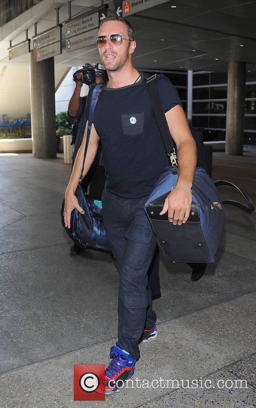 Coldplay frontman Chris Martin arrives at Los Angeles...