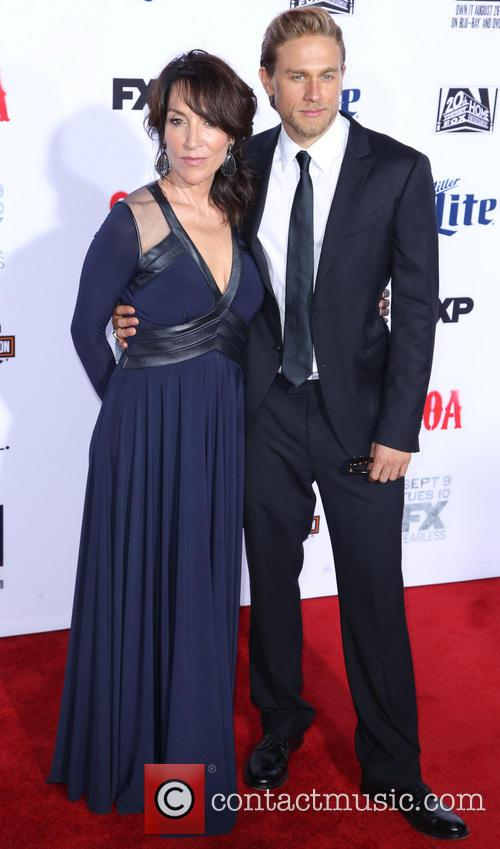 Katey Sagal and Charlie Hunnam