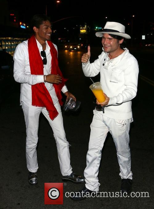 B Howard and Corey Feldman enjoying a night...
